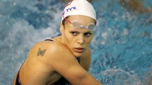 Retiring to be a mum . . . France's swimming superstar Laure Manaudou says she is retiring for a second time. Source: AFP