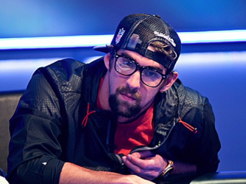 Michael Phelps, in action recently.(Photo: @pokernewsdotcom)