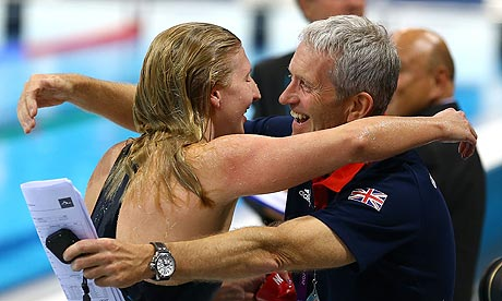 Rebecca Adlington described her former coach Bill Furniss as a 'second dad'. Photograph: Al Bello/Getty Images