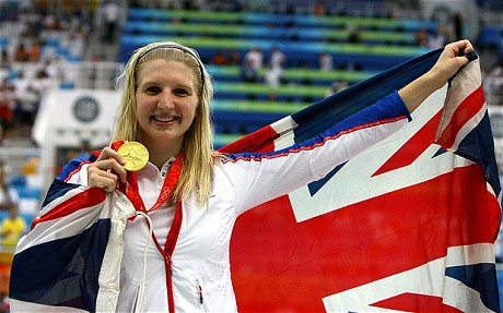 End of the road: Double Olympic champion Rebecca Adlington confirmed her retirement from competitive swimming (Getty Images)