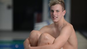 Kyle Chalmers, 14, is competing in the National Age Swimming Championships to be held at Marion SA Aquatic and Leisure Centre. Picture: Naomi Jellicoe. Source: The Advertiser