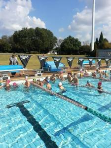 Participants at the sucessful clinic hosted by Swim Coach at the LC De Villiers pool at the University of Pretoria : image Susan Louw