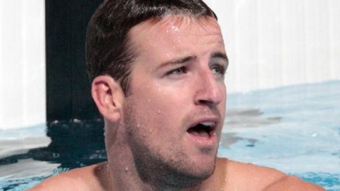 James Magnussen after his 100m freestyle heat in Barcelona.