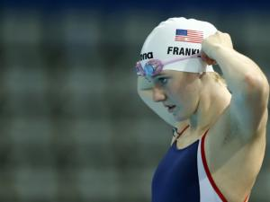 Missy Franklin in training at the Sant Jordi arena in Barcelona. Picture: Michael Dalder