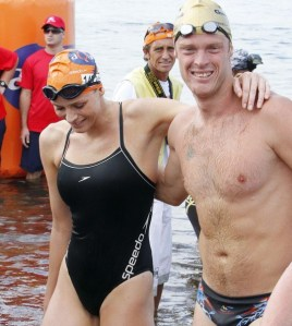 Charleen Witstock and Terrence Parkin at the Midmar Mile