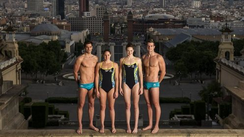 Christian Sprenger, Alicia Coutts, Cate Campbell and James Magnussen reached great heights in Barcelona. Picture: David Ramos/Getty Images Source: Getty Images
