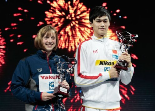 Katie Ledecky and Sun Yang (Getty Images)