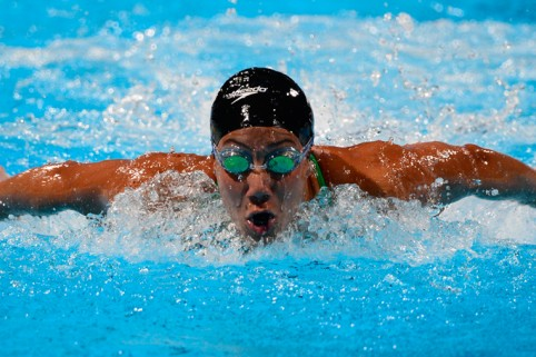 Doing Egypt proud: Osman makes swimming final.